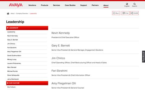 Screenshot of Team Page avaya.com - Avaya Leadership - captured April 10, 2017