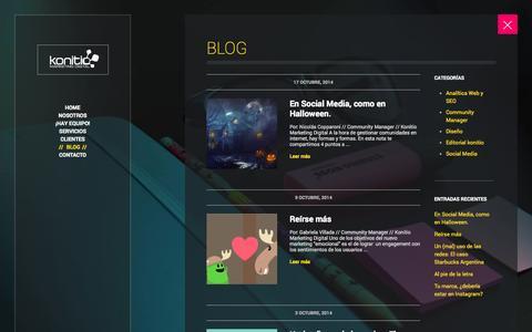 Screenshot of Blog konitio.com - Blog   Konitio Marketing Digital Córdoba - captured Oct. 29, 2014