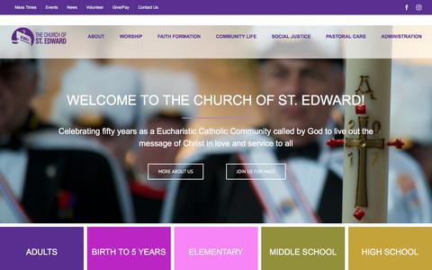 Screenshot of Home Page stedwardschurch.org - Church of St. Edward | Bloomington Minnesota | Catholic Community - captured July 3, 2018