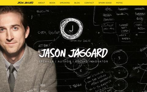 Screenshot of Home Page jasonjaggard.com - Jason Jaggard - captured Sept. 3, 2015