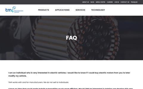 Screenshot of FAQ Page tm4.com - FAQ - TM4 - captured June 16, 2017