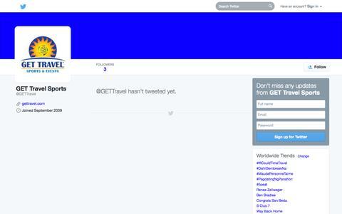 Screenshot of Twitter Page twitter.com - GET Travel Sports (@GETTravel)   Twitter - captured Oct. 22, 2014