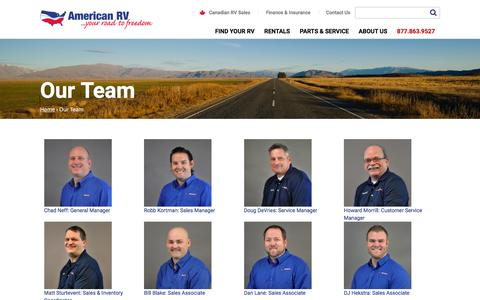 Screenshot of Team Page americanrv.com - Our Team | American RV - captured May 30, 2017