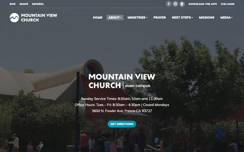 Screenshot of Locations Page mountainview.org - Locations & Times – Mountain View Church - captured Oct. 20, 2018