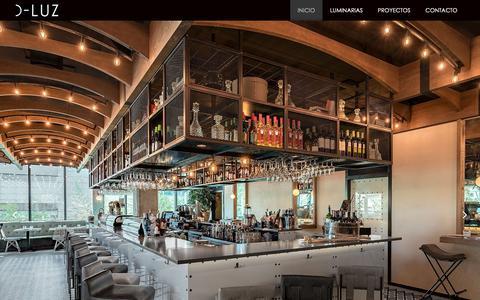 Screenshot of Home Page d-luz.com - Inicio - D-Luz - captured Nov. 5, 2018