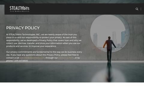 Privacy Policy | STEALTHbits