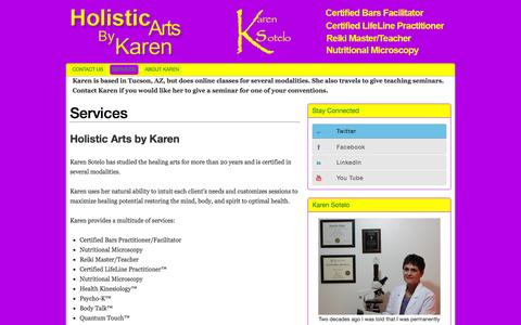 Screenshot of Services Page karensotelo.com - Services - captured Oct. 3, 2014
