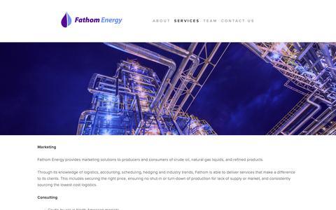 Screenshot of Testimonials Page fathomenergy.com - SERVICES — Fathom Energy - captured Oct. 10, 2018