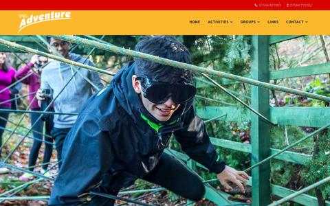 Screenshot of Home Page forestofdeanadventure.co.uk - Welcome to Forest of Dean Adventure - captured Aug. 17, 2018
