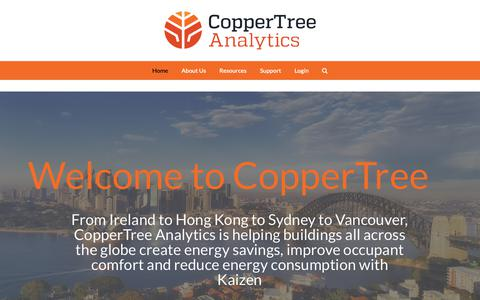 Screenshot of Home Page coppertreeanalytics.com - CopperTree Analytics - Learn More About Building Energy Software - captured Nov. 8, 2018
