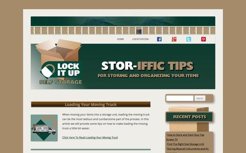 Screenshot of Blog lockitup.com - Stor-Iffic Tips | For Storing and Organizing Your Items - captured Oct. 3, 2014