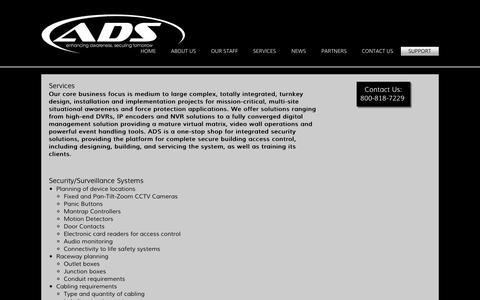 Screenshot of Services Page adv-ds.com - Services - Advanced Digital Solutions - captured Oct. 4, 2014