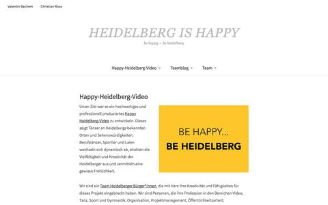 Screenshot of Home Page happy-heidelberg.de - Happy-Heidelberg-Video - Heidelberg is Happy - captured June 11, 2018