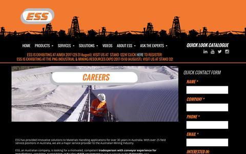 Screenshot of Jobs Page esseng.com.au - Careers | Australia | ESS  | ESS Engineering - captured July 11, 2017