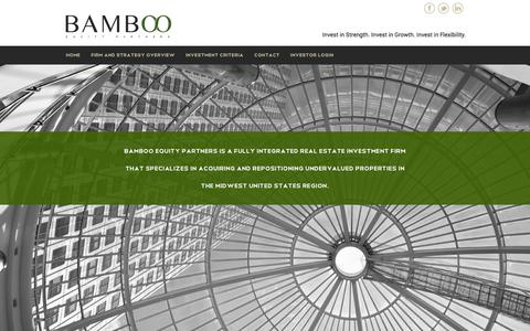 Screenshot of Home Page bambooequity.com - Bamboo Equity Partners - St Louis MO - captured Feb. 7, 2016