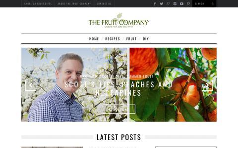 Screenshot of Blog thefruitcompany.com - The Fruit Company Blog - Fruit Baskets, Fruit Towers, and Gifts - captured Nov. 18, 2019