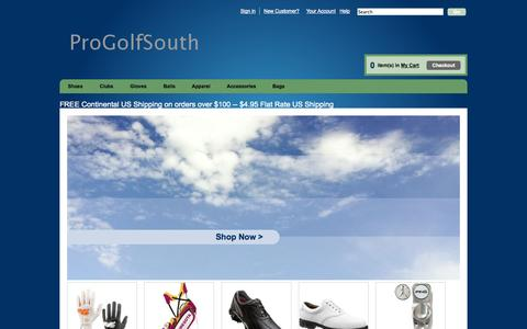 Screenshot of Home Page progolfsouth.com - ProGolfSouth - captured Oct. 6, 2014