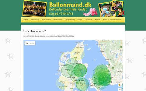 Screenshot of Maps & Directions Page ballonmand.dk - Map - Ballonmand.dk - captured July 28, 2016