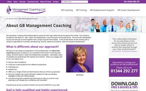 Screenshot of About Page gbmcoaching.co.uk - About GB Management Coaching | GB Management Coaching Ltd - captured Oct. 8, 2014