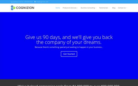 Screenshot of Home Page cognizion.com - COGNIZION - Realize Your Business Vision. - captured July 17, 2015