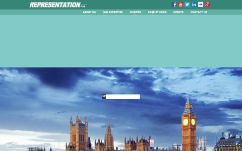Screenshot of Case Studies Page representationplus.co.uk - Representation Plus   Integrated Marketing   PR   Event Management   Brand Developement - captured Aug. 16, 2015