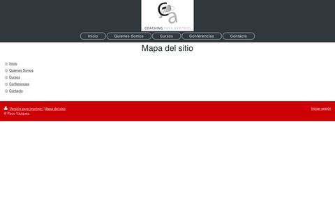 Screenshot of Site Map Page coachingparaarbitros.com - - Inicio - captured May 18, 2017