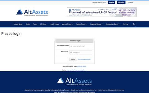 Screenshot of Login Page altassets.net - Please login - captured May 29, 2017