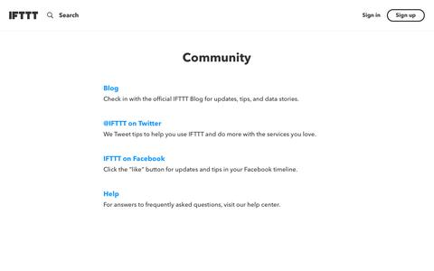 Our community - IFTTT