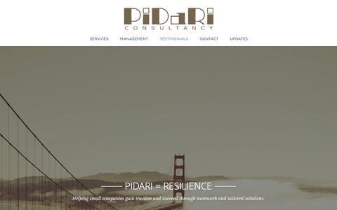 Screenshot of Home Page pidari.com - Pidari Consultancy - captured Jan. 28, 2016