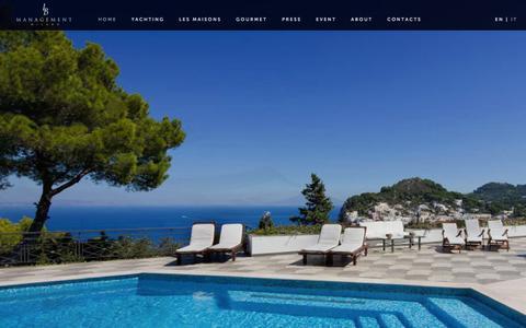 Screenshot of Home Page lbmanagement.eu - L B Management Srl - Milano - captured Sept. 26, 2014