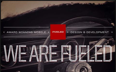 Screenshot of Home Page fueled.com - Mobile App Design & Development Company in NYC - Fueled - captured Sept. 23, 2014