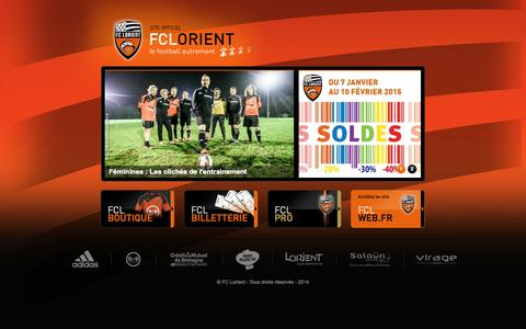 Screenshot of Home Page fclweb.fr - FCL Web - Accueil | billetterie fc lorient, lorient match, match fc lorient, location salle lorient, led publicitaire, panneau publicitaire led - captured Jan. 23, 2015