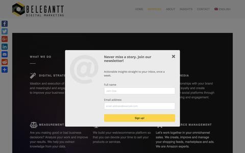Screenshot of Services Page belegantt.com - Belegantt Digital Marketing and eCommerce Services | Belegantt. Digital Marketing and eCommerce Agency - captured Aug. 1, 2018