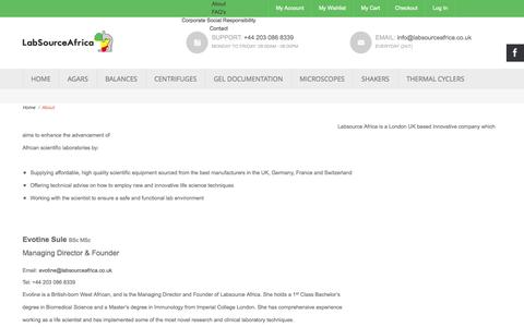 Screenshot of About Page labsourceafrica.co.uk - About - captured Sept. 27, 2014