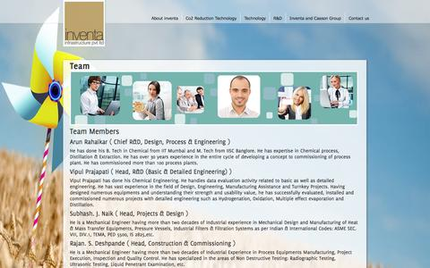 Screenshot of Team Page o2box.in - -:: Inventa ::- - captured Oct. 6, 2014