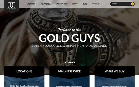 Screenshot of Home Page goldguys.com - Gold Buyers | Sell Gold Online, Gold Mail In Service | Your Gold Guys - captured July 23, 2015