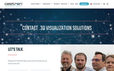 Screenshot of Contact Page ceetron.com - Contact Ceetron | Advanced 3D Visualization Solutions for CFD & FEA - captured Sept. 27, 2018