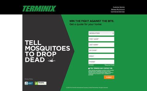 Screenshot of Landing Page terminix.com - Terminix | Mosquito Service - captured Feb. 23, 2016