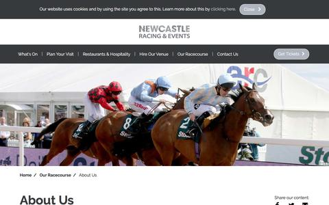 Screenshot of About Page newcastle-racecourse.co.uk - About Us | Newcastle Racecourse - captured Nov. 12, 2017