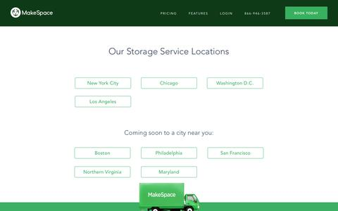 Screenshot of Locations Page makespace.com - Storage Locations Nationwide | MakeSpace - captured Aug. 9, 2018