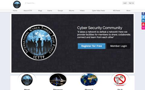Screenshot of Home Page icttf.org - ICTTF International Cyber Threat Task Force - ICTTF - International Cyber Threat Task Force - captured Sept. 19, 2014