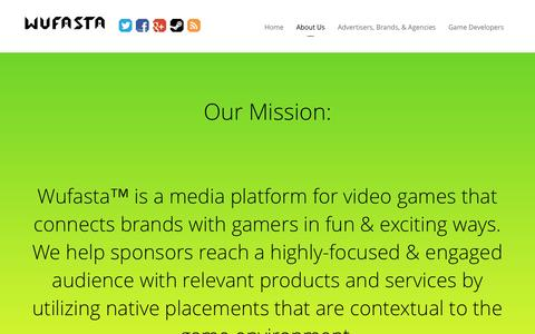 Screenshot of About Page wufasta.co - About Us - Wufasta™ - captured Oct. 29, 2014