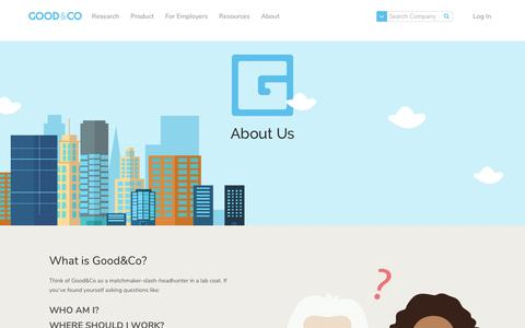 About Us - Good & Co