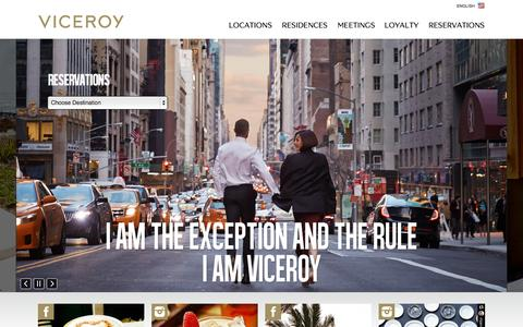Screenshot of Home Page viceroyhotelsandresorts.com - Viceroy Hotels and Resorts | Welcome to Viceroy Hotels and Resorts - captured Oct. 1, 2015