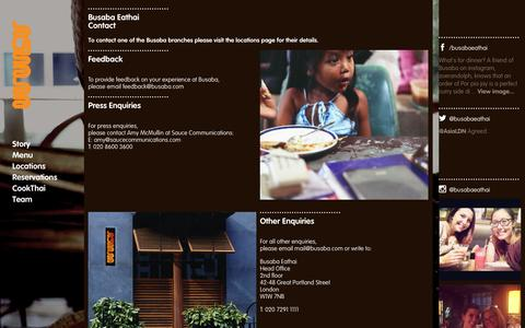 Screenshot of Contact Page busaba.com - Website - captured Nov. 1, 2014