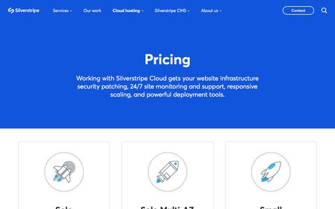 Screenshot of Pricing Page silverstripe.com - Pricing - Silverstripe Cloud - Silverstripe - captured Nov. 4, 2019