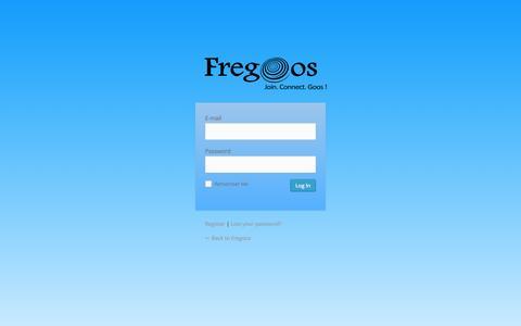 Screenshot of Signup Page fregoos.com - Fregoos › Log In - captured Oct. 27, 2014