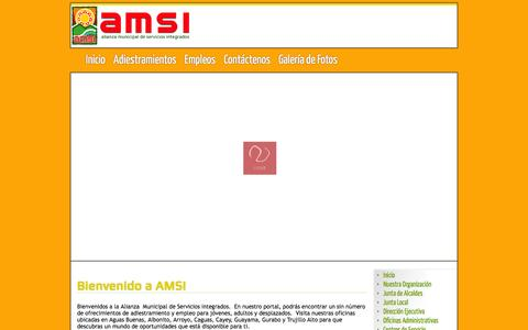 Screenshot of Home Page amsi.gov.pr - AMSI - Inicio - captured Feb. 5, 2016