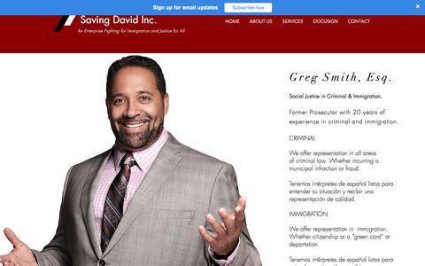 Screenshot of Services Page Terms Page savingdavid.org - Business | United States | Saving David - captured July 9, 2018