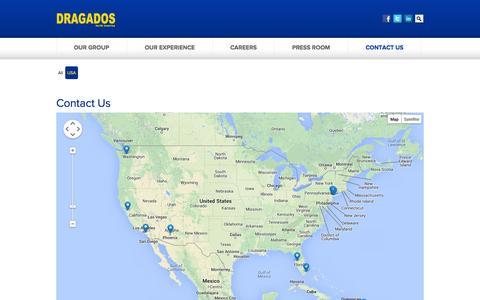 Screenshot of Contact Page Locations Page dragados-usa.com - Contact Us - Dragados USA - captured Oct. 5, 2014
